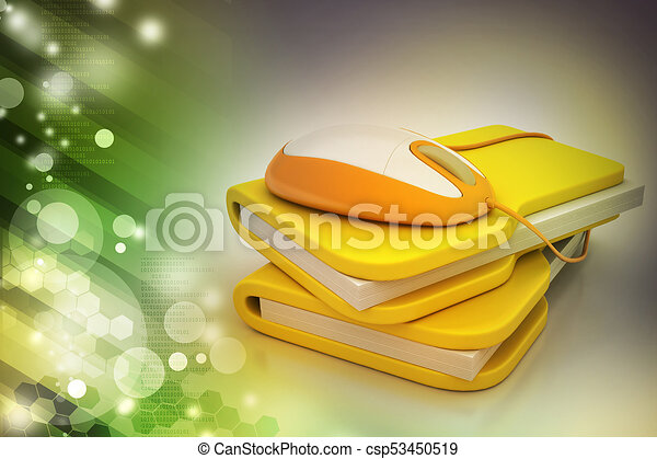 mouse with file folder - csp53450519