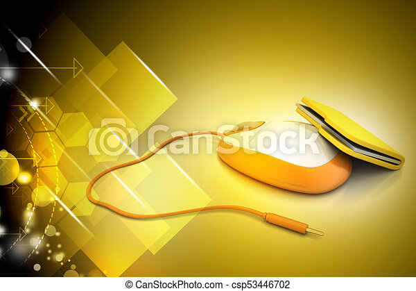 mouse with file folder - csp53446702