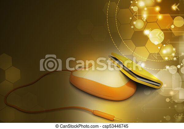 mouse with file folder - csp53446745