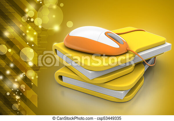 mouse with file folder - csp53449335