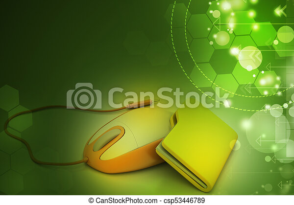 mouse with file folder - csp53446789