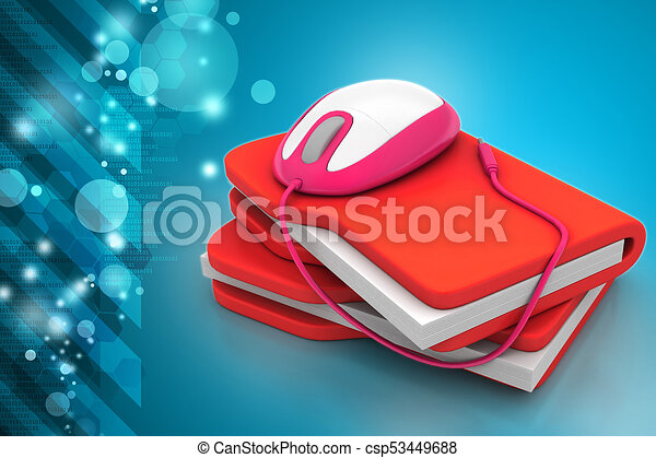 mouse with file folder - csp53449688