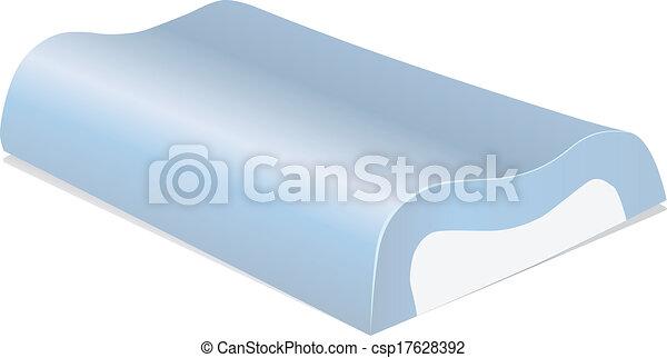 mousse, oreiller, mémoire - csp17628392