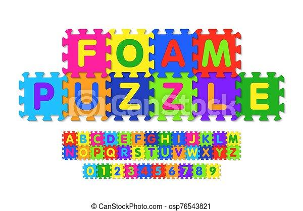 mousse, puzzle, conception, police - csp76543821