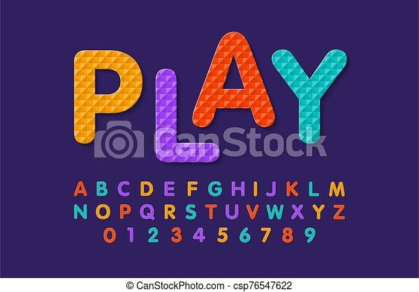 mousse, puzzle, doux, police - csp76547622