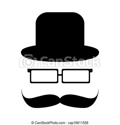 Moustache chapeau lunettes clipart vectoriel - Moustache dessin ...