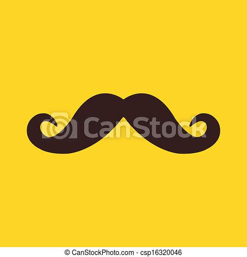 moustache, icône, vecteur - csp16320046