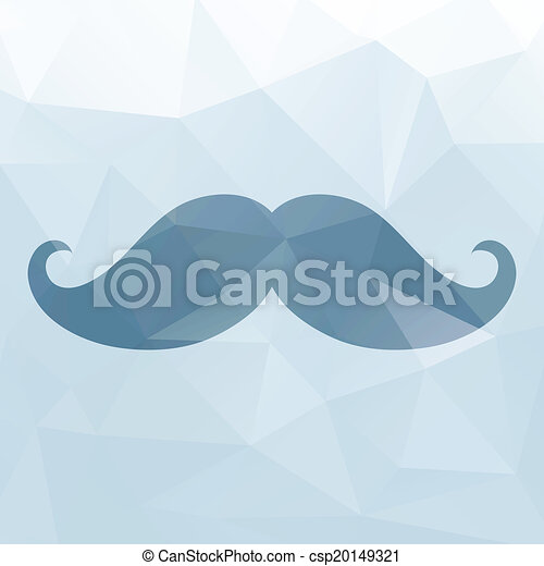 moustache, triangles, fond - csp20149321