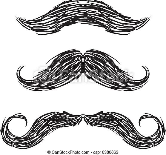 Vector de bigotes fijado - csp10380863