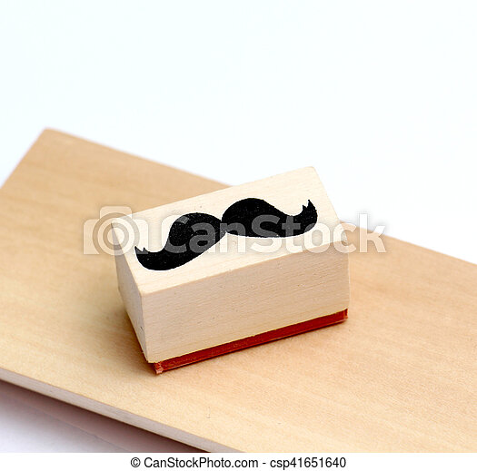 moustaches rubber stamp. Movember men's health awareness concept. - csp41651640