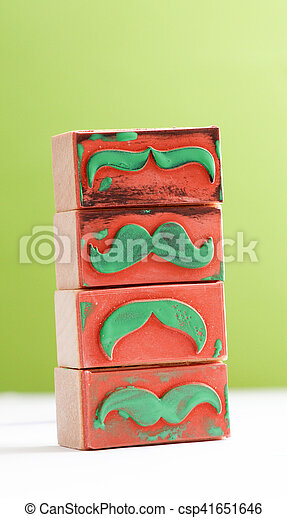 moustaches rubber stamp. Movember men's health awareness concept. - csp41651646