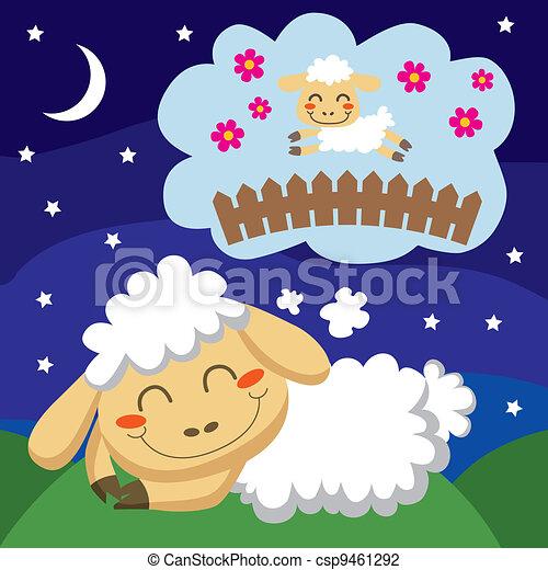 mouton, dénombrement - csp9461292