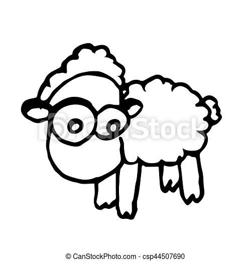 Mouton dessiner vecteur main croquis mouton mignon - Mouton a dessiner ...