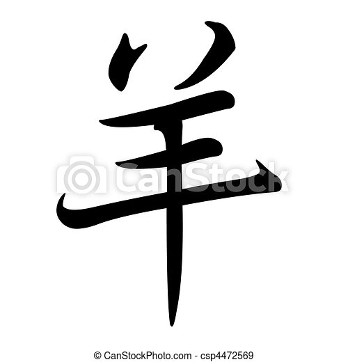 Dessin De Signe Chinois mouton, zodiac:, chinois, signe.