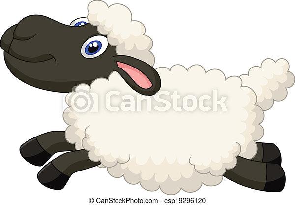 Mouton sauter dessin anim mouton vecteur dessin - Mouton dessin anime ...