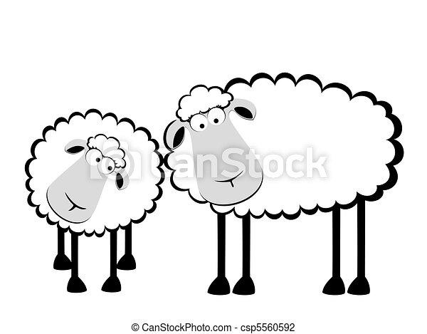 Mouton sourire deux dessin anim - Mouton dessin anime ...