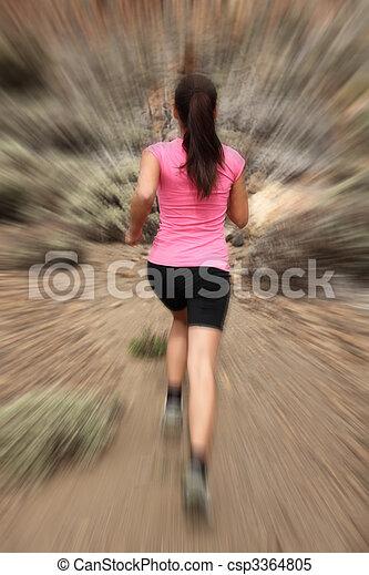 mouvement, femme, coureur, -, courant - csp3364805