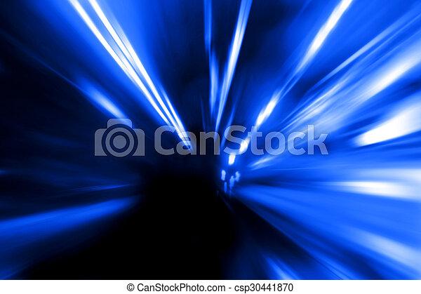 mouvement, rue, vitesse, nuit - csp30441870