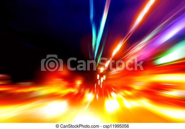 mouvement, rue, vitesse, nuit - csp11995056
