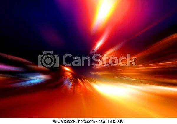 mouvement, rue, vitesse, nuit - csp11943030