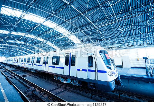 mouvement, train, barbouillage - csp4129247