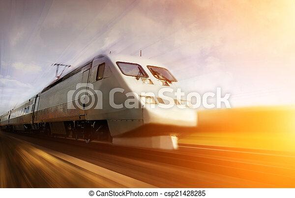 mouvement, train, jeûne, barbouillage - csp21428285