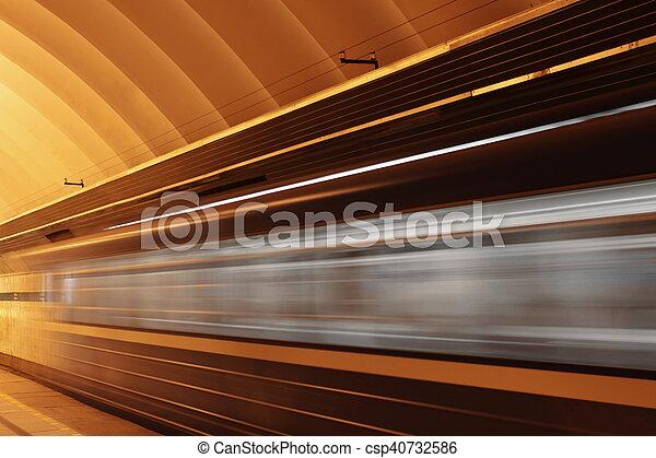 mouvement, train, vitesse, barbouillage - csp40732586