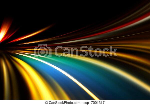 mouvement, vitesse, route, nuit - csp17001317