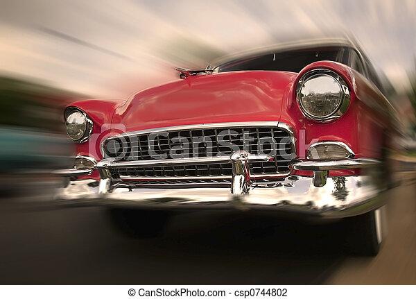 mouvement, voiture, rouges - csp0744802