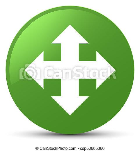 Move icon soft green round button - csp50685360