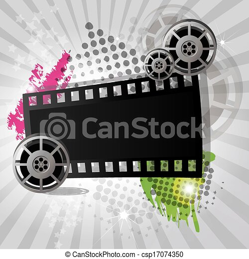 Movie background banner vector movie background with film movie background banner vector voltagebd Image collections