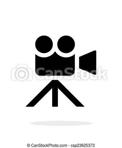 Movie Camera Simple Icon On White Background