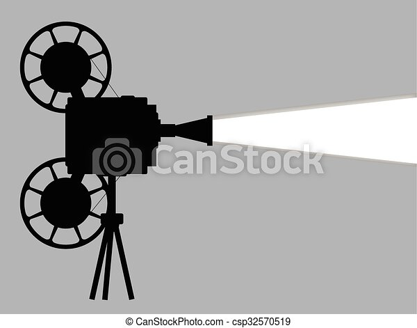 Old Movie Projector Drawing