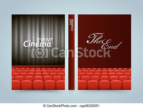 Movie cinema premiere poster design  Banner film book  A4 size paper,  Template design element, Vector background