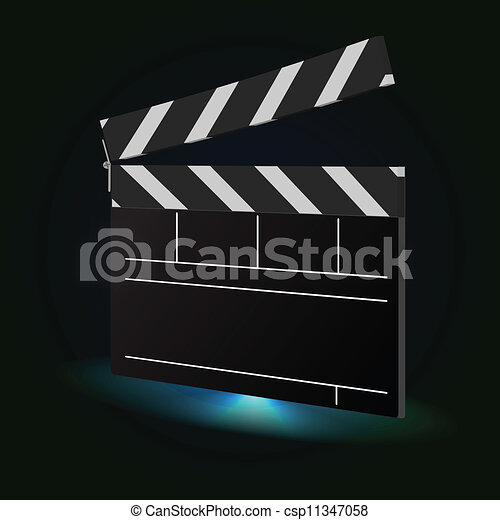 Movie Clapper Board - csp11347058