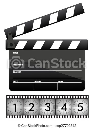 Movie clapper board - csp27702342