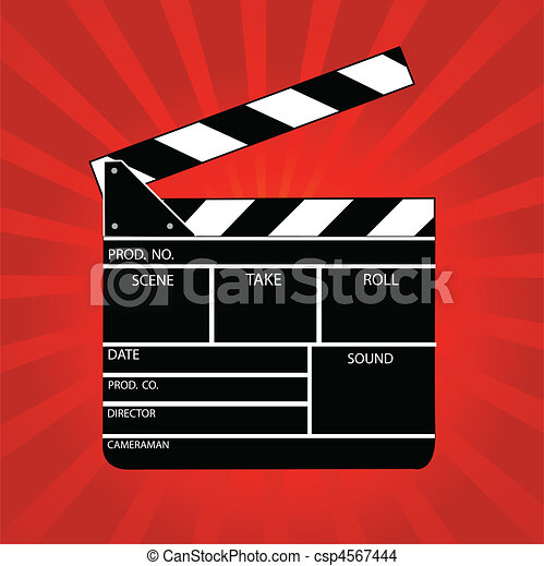 Movie clapper board - csp4567444