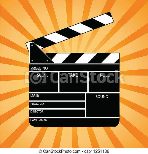 Movie clapper board - csp11251136