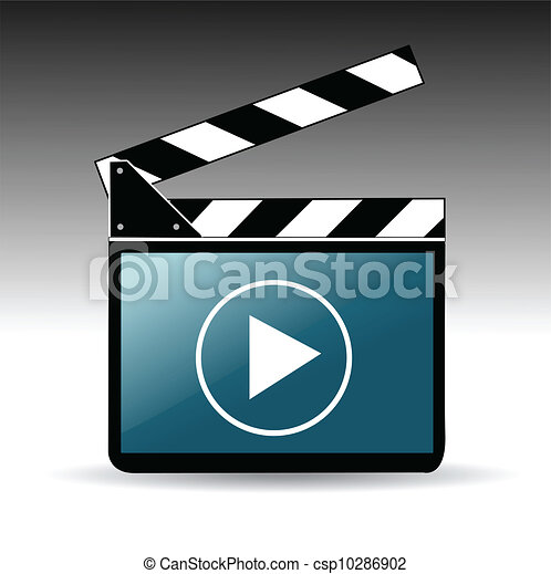 Movie clapper board  - csp10286902