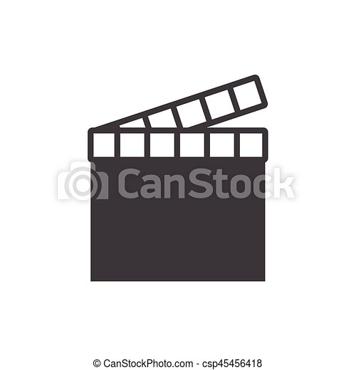 movie clapper icon on the background , vector - csp45456418