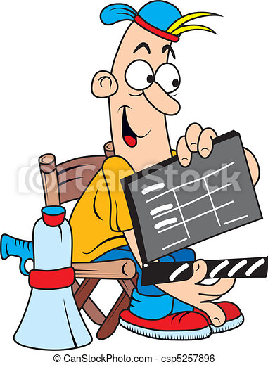 funny comic character as movie director isolated on white clip rh canstockphoto com director clipart png directory clip art