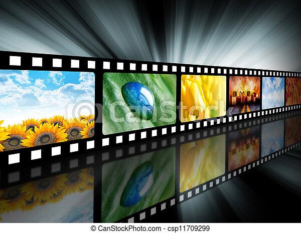 Movie Entertainment Film Reel - csp11709299