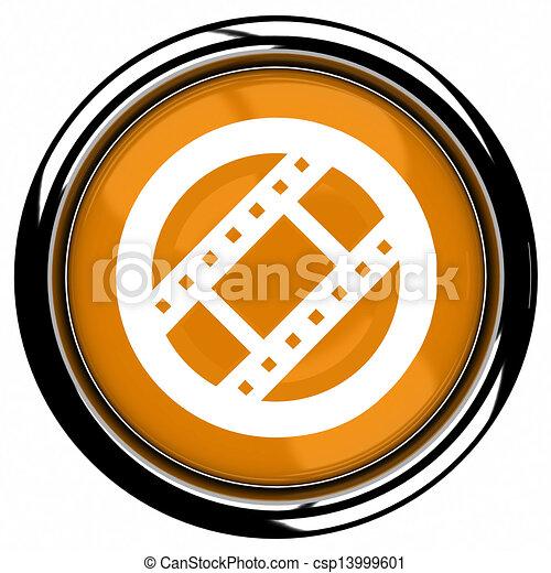 movie Icon Button - csp13999601
