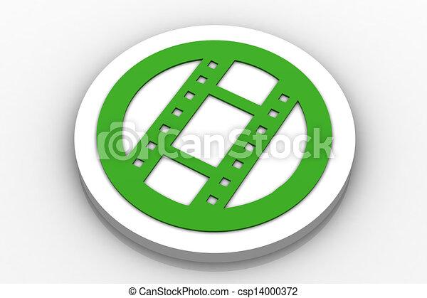 movie Icon Button - csp14000372