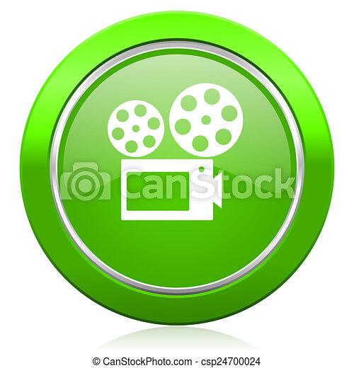 movie icon cinema sign - csp24700024