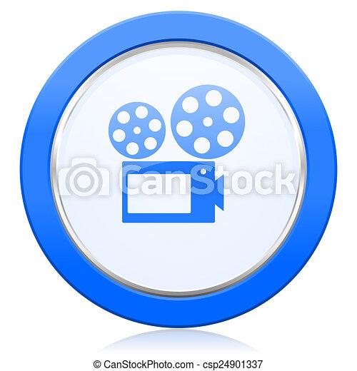 movie icon cinema sign - csp24901337