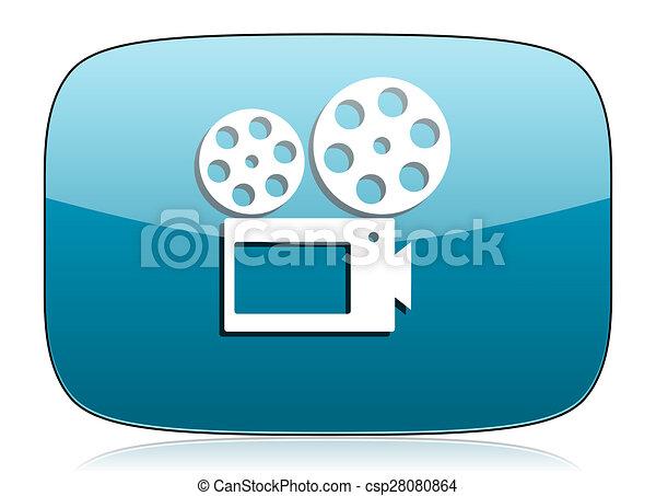 movie icon cinema sign - csp28080864