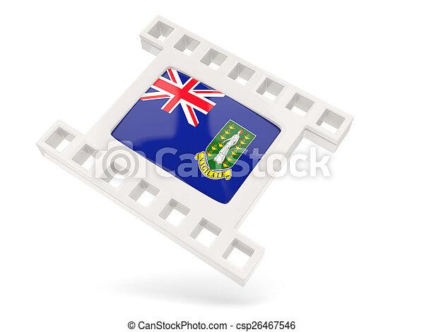Movie icon with flag of british virgin islands - csp26467546