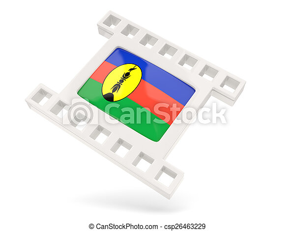 Movie icon with flag of new caledonia - csp26463229