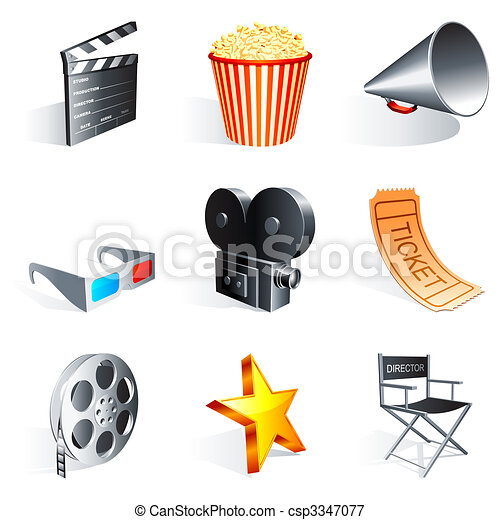 Movie icons. - csp3347077